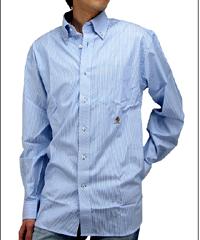 トミーヒルフィガー「エルモア ボタンダウン長袖ストライプシャツ 水色/白」