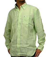トミーヒルフィガー「サンドパイパー 長袖シャツ 黄緑」
