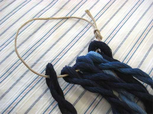 藍染リネンの糸