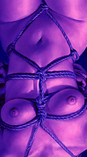 緊縛女子大生、亀甲縛り一番絞り