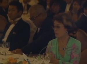 ヤクルトスワローズ元監督野村克也、妻野村沙知代ご夫妻、塩田大介氏の結婚披露宴にシダックスゼネラルマネージャとして参加