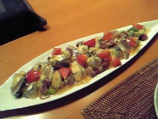 いろいろ魚と山菜の和風サラダ仕立て