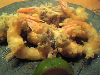 サルエビとキノコの天ぷら