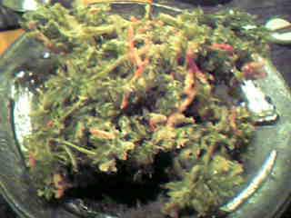 にんじんの葉天ぷら