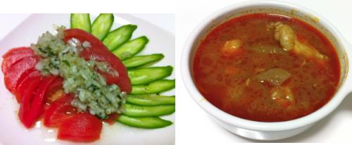 トマトサラダとシチュー