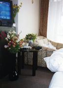 部屋にはいつも花が・・・