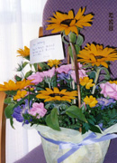友人からの花