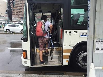 しまなみ海道で途中でバスに乗り込む