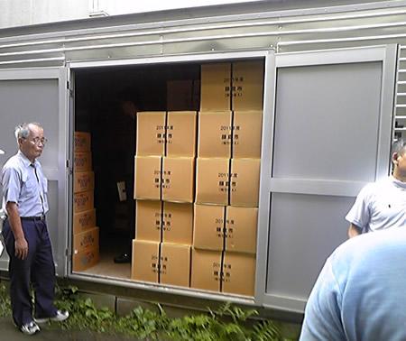 山崎小学校の防災倉庫