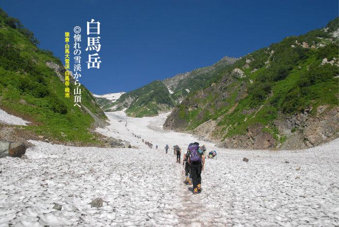 日本三大雪渓のひとつ白馬大雪渓