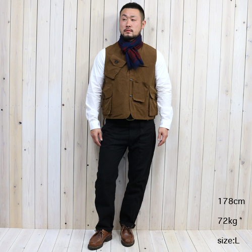 『Tenkara Vest-Wax Coating』(Brown)