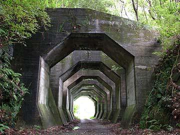 八角形のトンネル