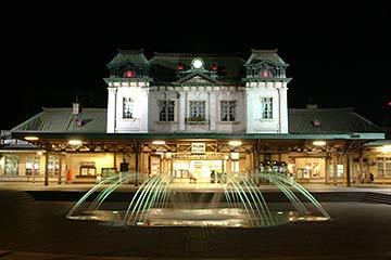 JR門司港駅 夜のライトアップ