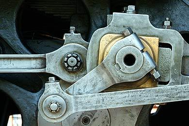 C591の動輪の一部のアップ