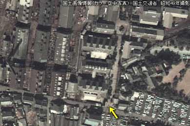 昭和49年当時の三川坑の航空写真
