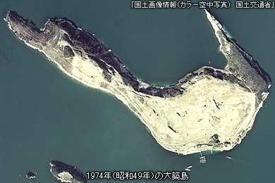 昭和49年の大築島