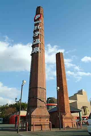 泗水社製糸工場跡の煉瓦煙突