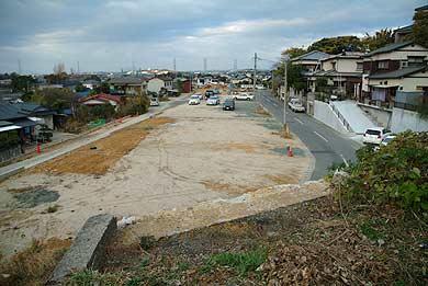 玉名線 橋台03の上から造成地を振り返る