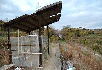 三井三池鉄道 大平駅から来た道を振り返る