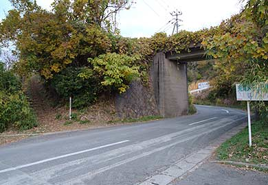大平駅入り口とコンクリート橋02
