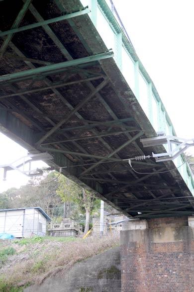 直方市の転車台転用橋梁