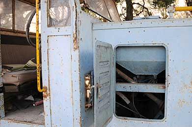 監物台樹木園に保存される森林鉄道の機関車
