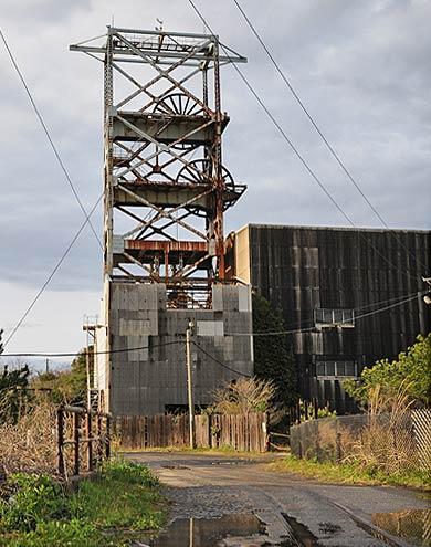 池島炭鉱 竪坑櫓