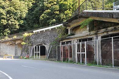 西日本製紙工場跡地に残る遺構