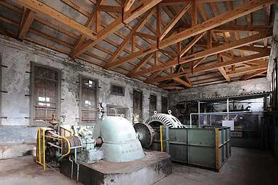 初公開 深水発電所の内部