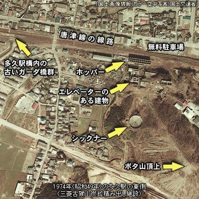 多久駅周辺の三菱古賀山炭鉱遺構