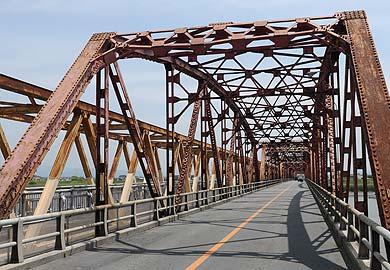 六五郎橋 中央の5つのトラス