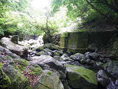 内大臣森林鉄道 西内谷支線 橋台と橋脚