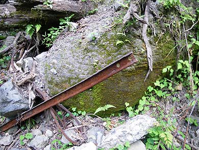 内大臣森林鉄道 北内谷支線 レール