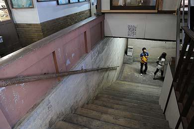 太刀洗レトロステーション 線路地下道