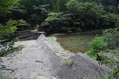 旧祝子川発電所 取水施設