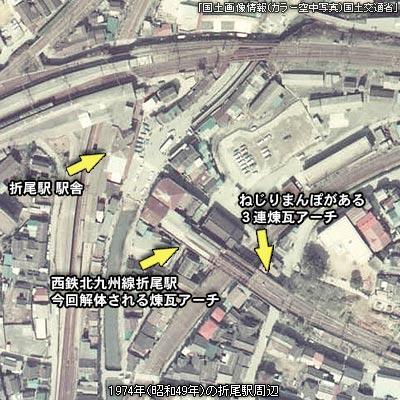 昭和49年の折尾駅周辺