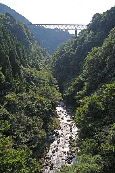 岩戸川と高千穂橋梁