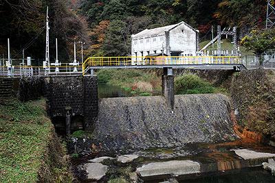 川走川第一発電所と川走川第二発電所の取水施設