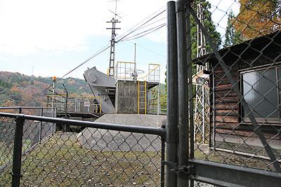 川走川第一発電所上部にある調整池