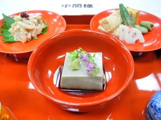精進料理・ごま豆腐