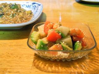 アボカドと20世紀梨のサラダ