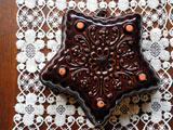 ダークチョコレートカラー 星のケーキ型