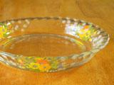 ナルミクックマミー ふんわりラインのガラスプレート