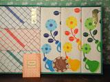 格子とポップな花柄の布巾6枚セット(やや難あり)