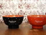 水玉の汁物茶碗