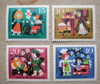 ドイツの古切手 グリム童話シリーズ