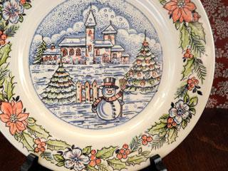 Underglaze スノーマン クリスマスプレート