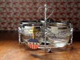 USA 葡萄酒グラス5客とラックセット