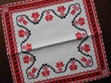 ドイツ 刺繍と透かし編みミニマット