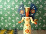 ドイツの木製人形のキャンドルスタンド